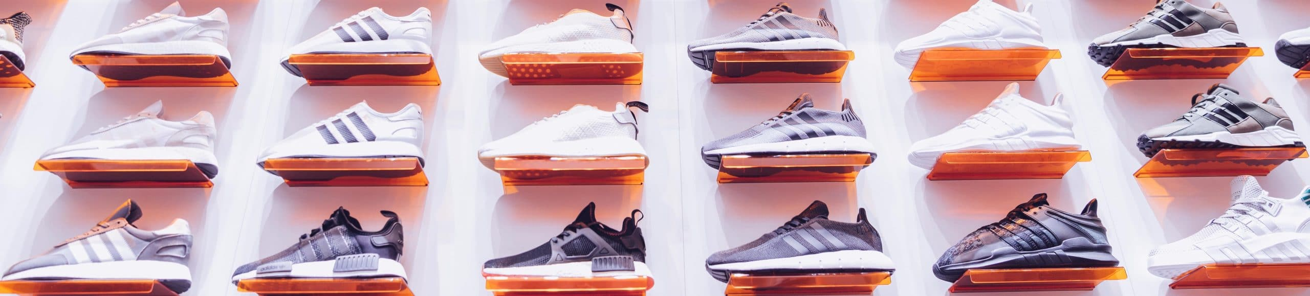 sneakers on wall